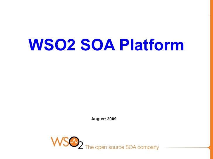 2009 Q2 WSO2 Technical Update