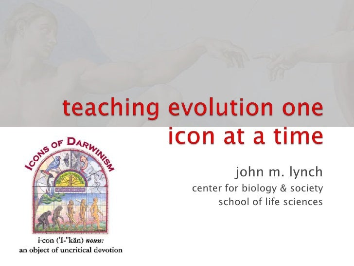Teaching Evolution One Icon At  a Time