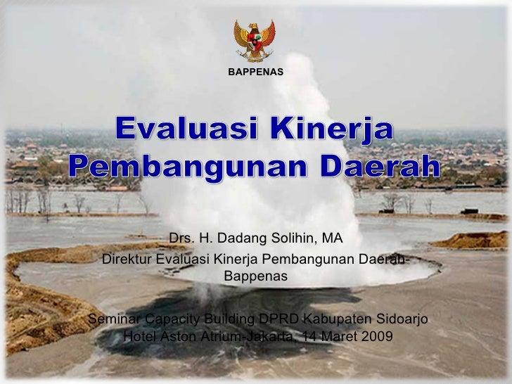 Evaluasi Kinerja Pembangunan Daerah