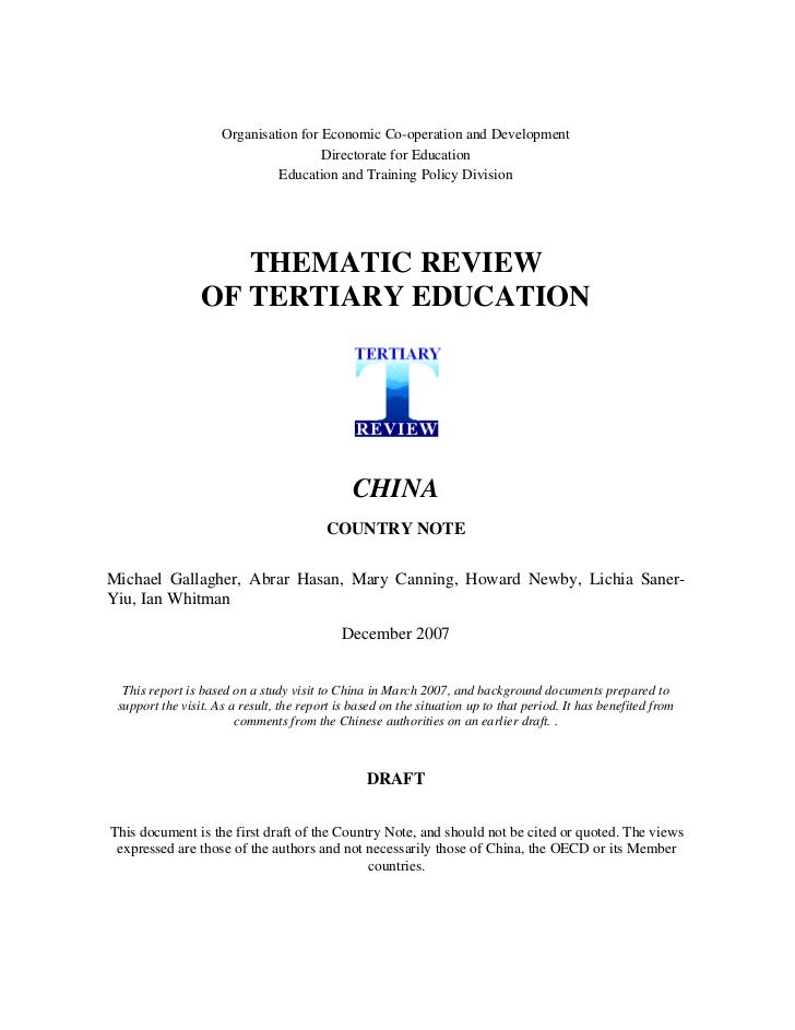 20090104 oecd china country note second draft -2_