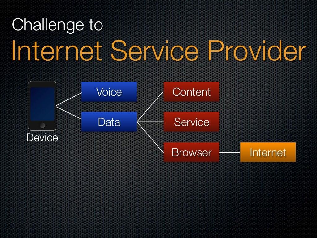 Challenge to Internet Service Provider