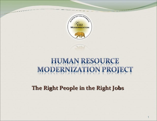 The Right People in the Right JobsThe Right People in the Right Jobs 1