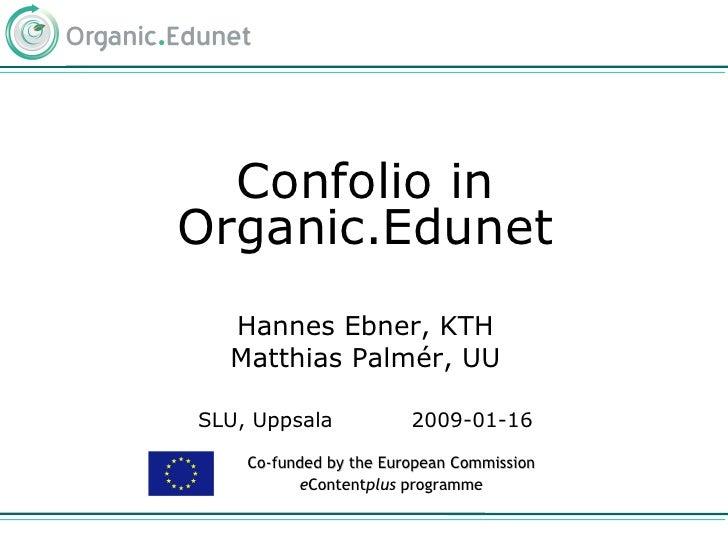 Confolio in Organic.Edunet