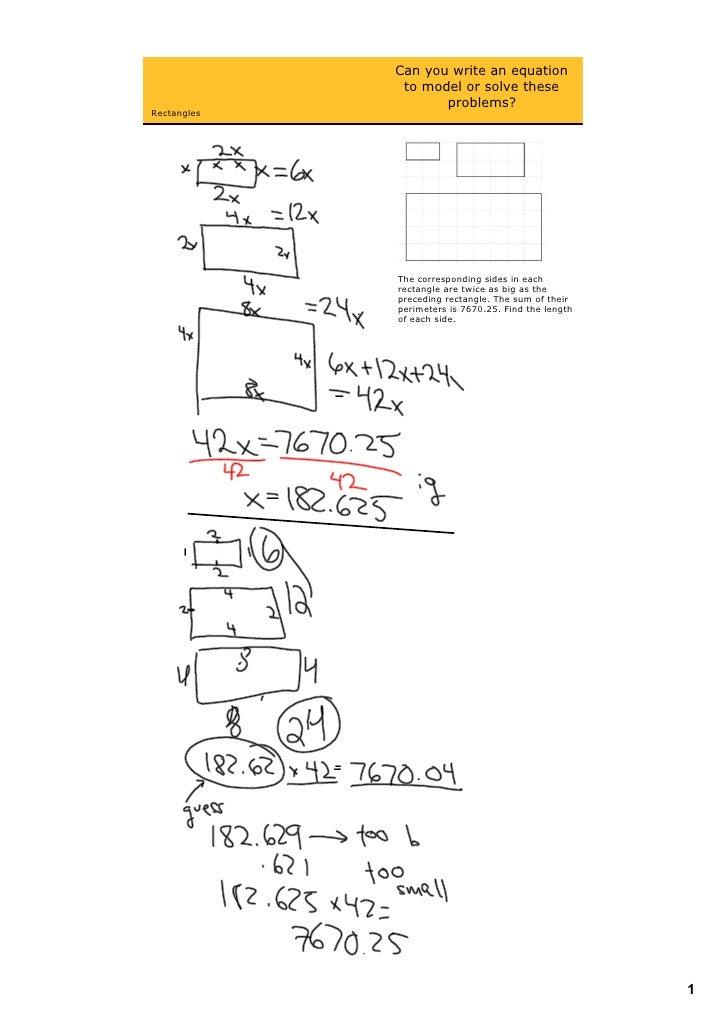 Canyouwriteanequation               tomodelorsolvethese                     problems? Rectangles                ...