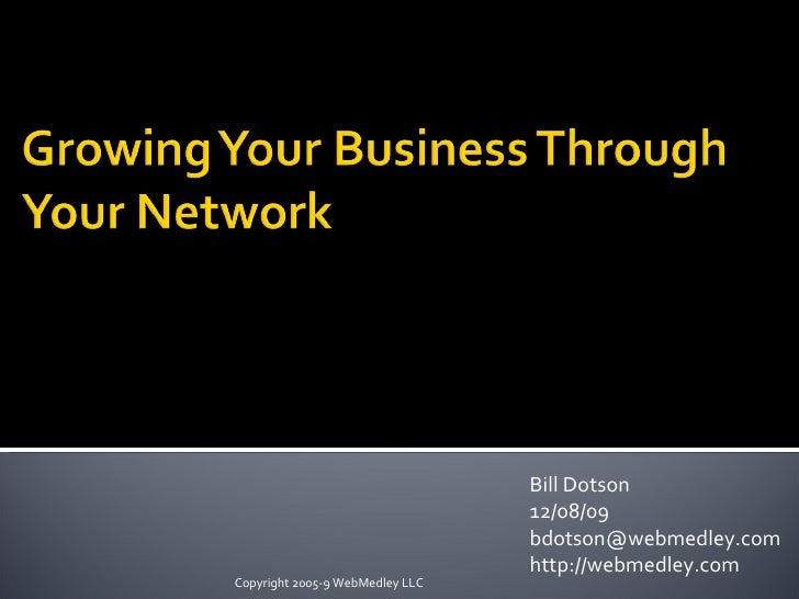 Networking to Improve Your Business