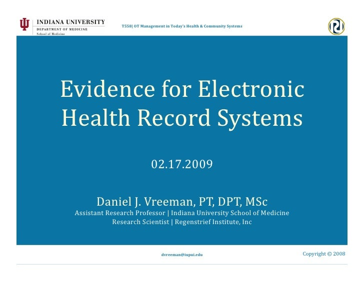 2009 02 17 - Introduction to EHRs for Rehab Providers