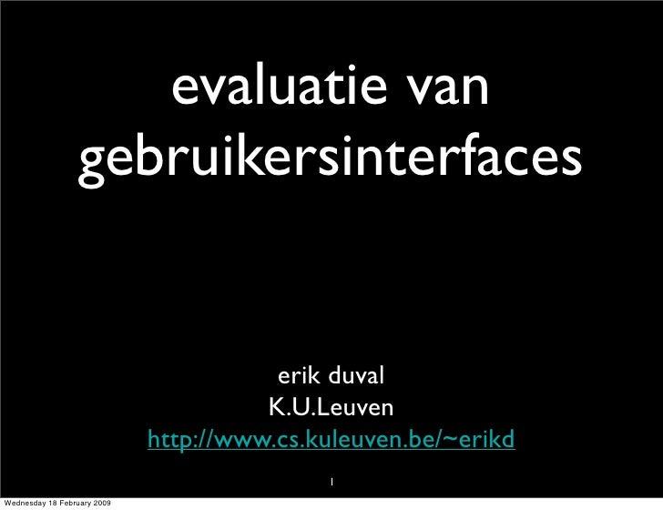 CHI: evaluation