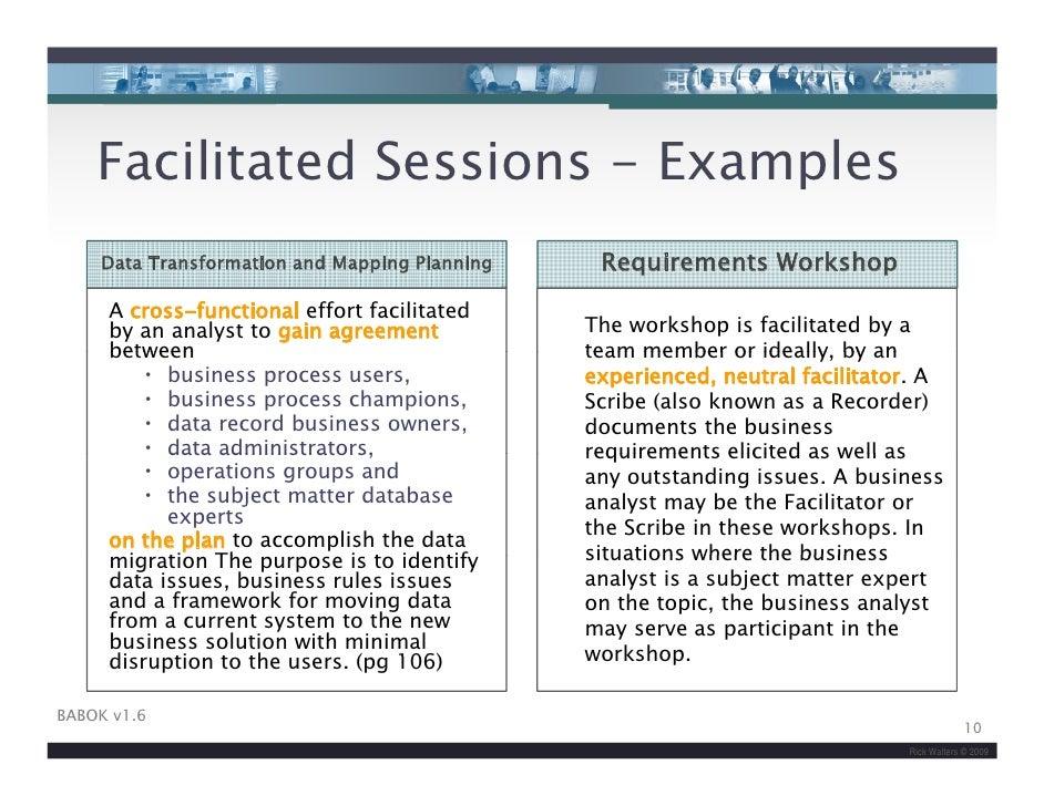 facilitation plan template - iiba facilitation skills for business analysis v2