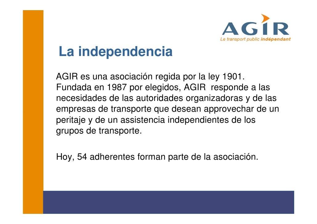 El Transport Públic Independent: l'exemple d'AGIR