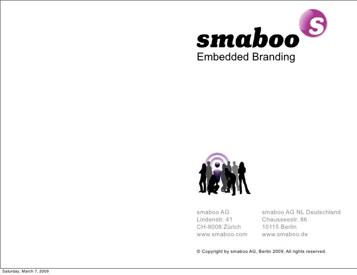 Embedded Branding                               smaboo AG                    smaboo AG NL Deutschland                     ...