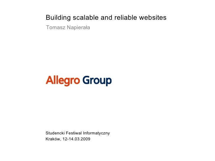 Building scalable and reliable websites