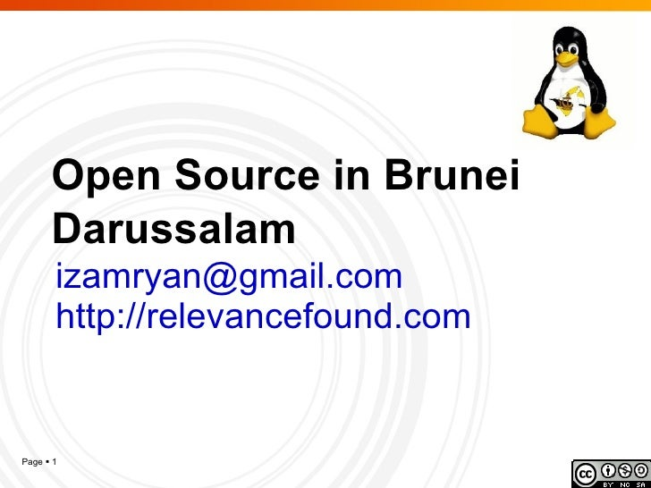 20090316 - Open Source In Brunei Darussalam