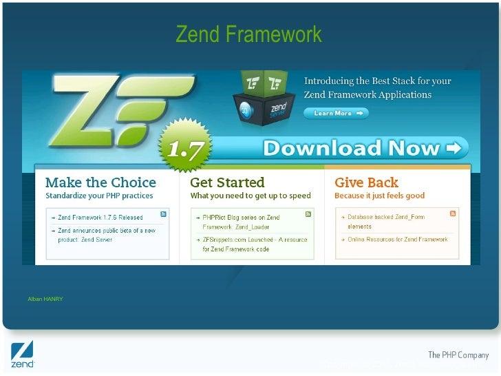 Zend Framework Alban HANRY
