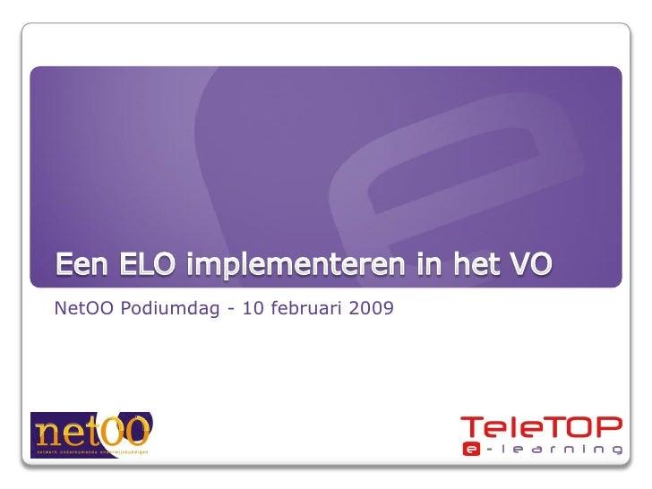 NetOO Podiumdag - 10 februari 2009