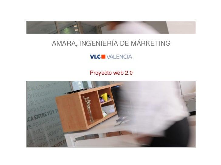 AMARA, INGENIERÍA DE MÁRKETING         Proyecto web 2.0