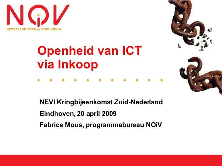 Openheid van ICT via Inkoop