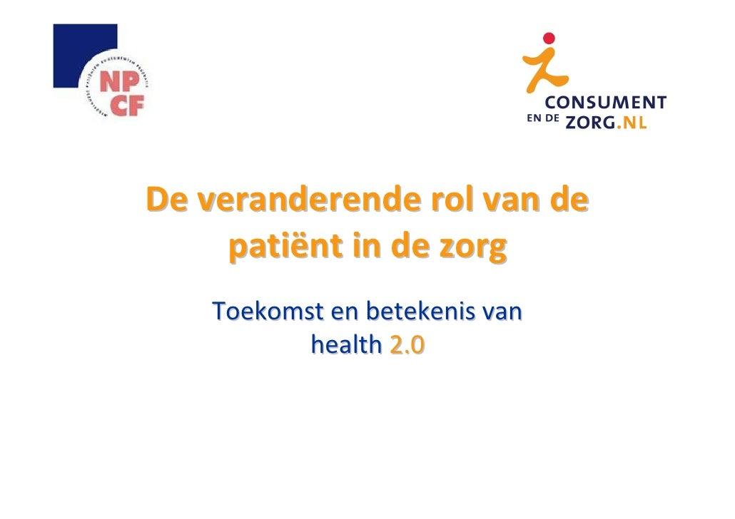 Zorgbelang Nederland Congres over Health 2.0