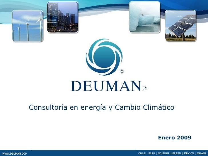 Enero 2009 Consultoría en energía y Cambio Climático