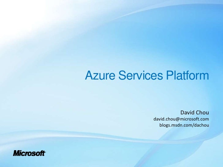 Patterns of Cloud Applications Using Microsoft Azure Services Platform
