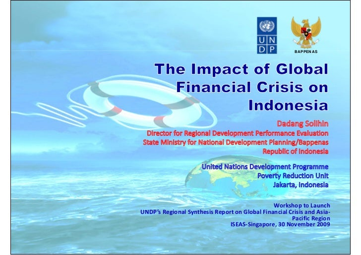 BAPPENAS                                               Workshop to LaunchUNDP's Regional Synthesis Report on Global Financ...