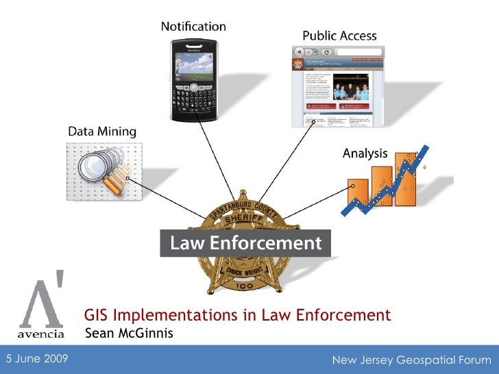 GIS Implementations in Law Enforcement Sean McGinnis 5 June 2009 New Jersey Geospatial Forum