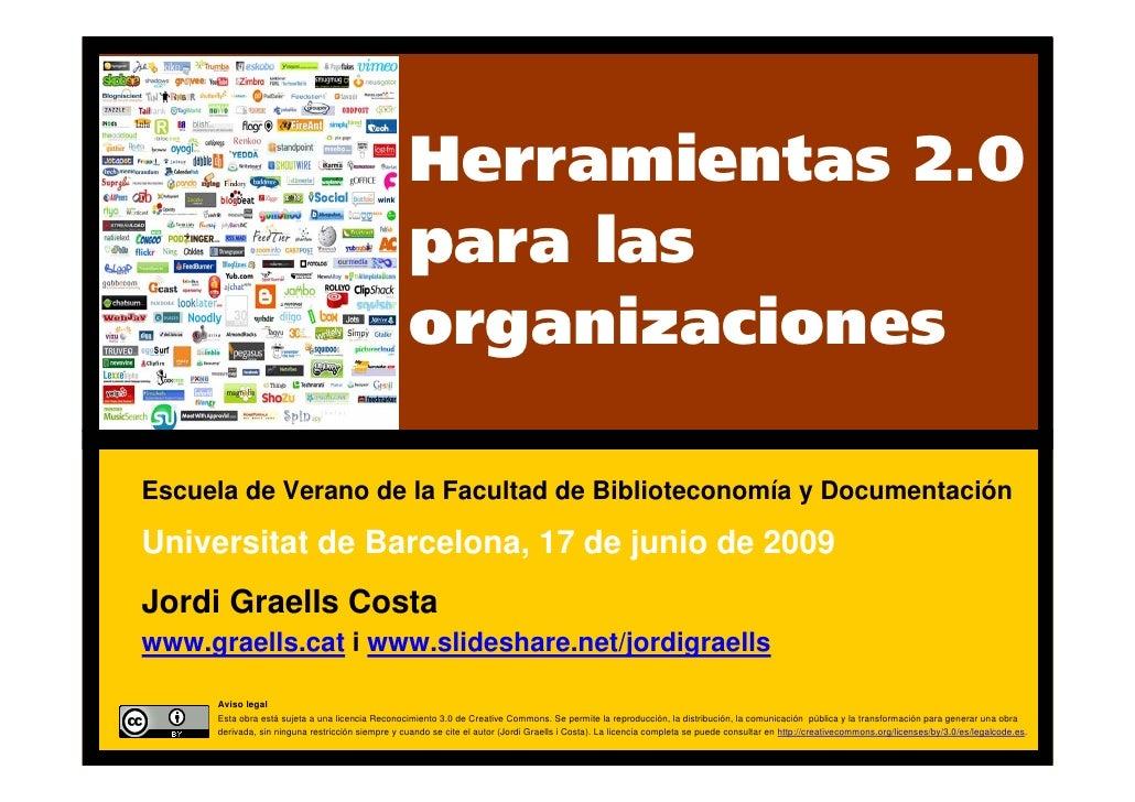 Herramientas 2.0 para las organizaciones