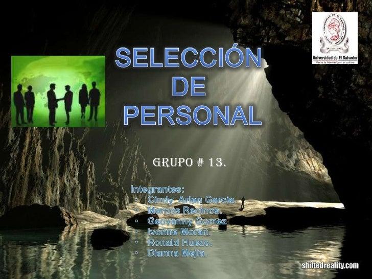 20090612 Seleccion Personal