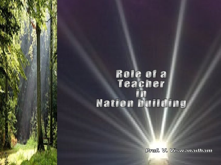 role of teacher in nation building essay