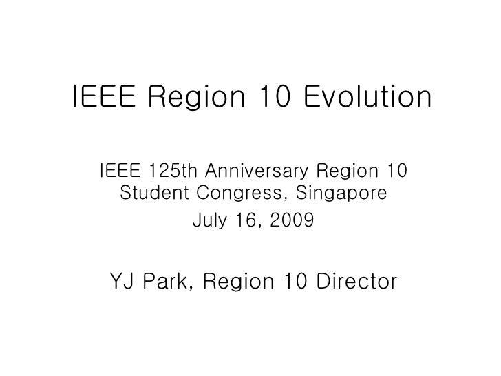 Region 10 History