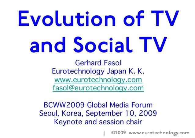 ©2009 www.eurotechnology.com1  Gerhard Fasol  Eurotechnology Japan K. K.  www.eurotechnology.com  fasol@eurotechnology.com...