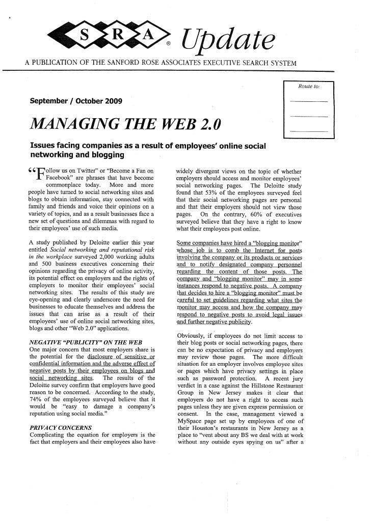 Managing Web 2.0 in Companies