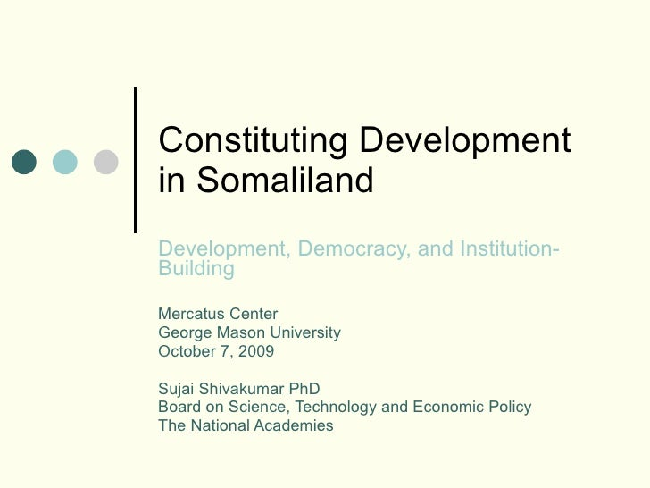 Constituting Development in Somaliland