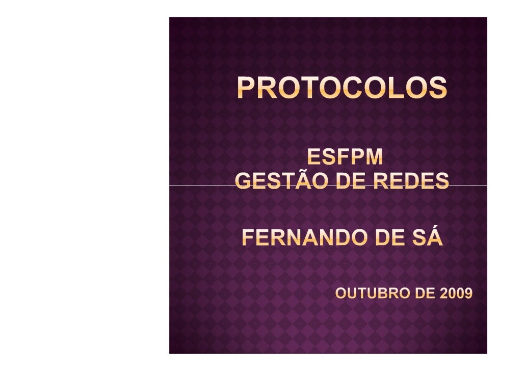 Protocolos Osi   Tcp Ip 2009 10 09