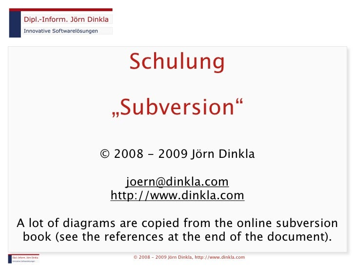Subversion Schulung