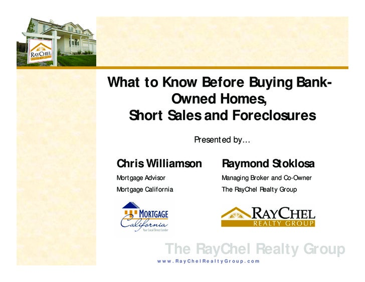 What to Know Before Buying Bank-                       y g          Owned Homes,   Short Sales and Foreclosures           ...