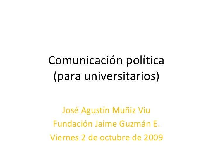 Comunicación Política para Universitarios