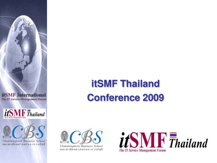 ItSmf Thailand 3rd Annual Conference 2009