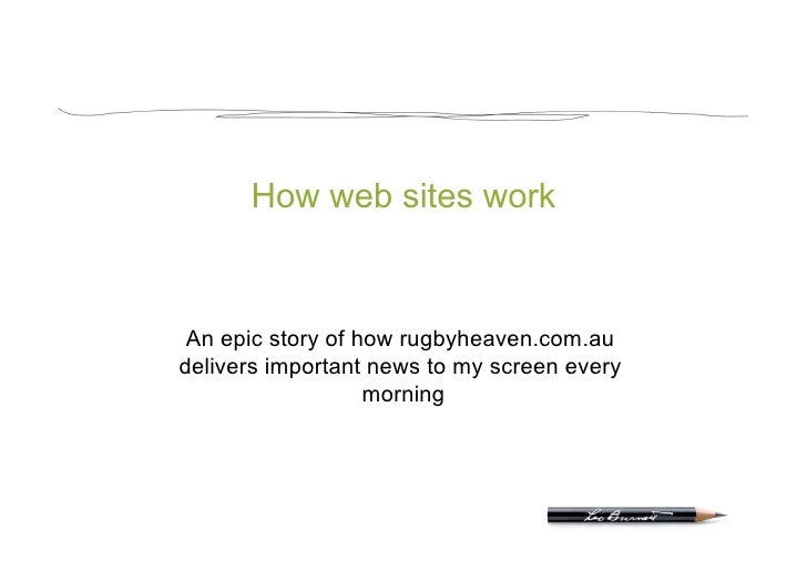 How web sites work     An epic story of how rugbyheaven.com.au delivers important news to my screen every                 ...