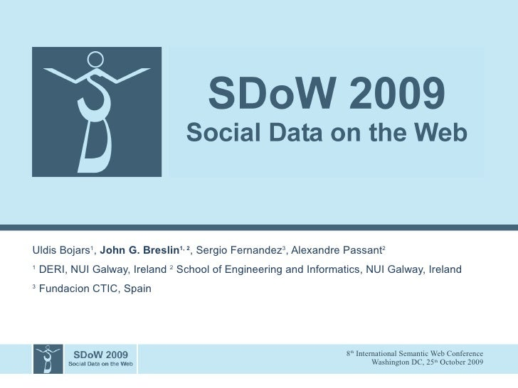 Introduction to the Social Data on the Web Workshop