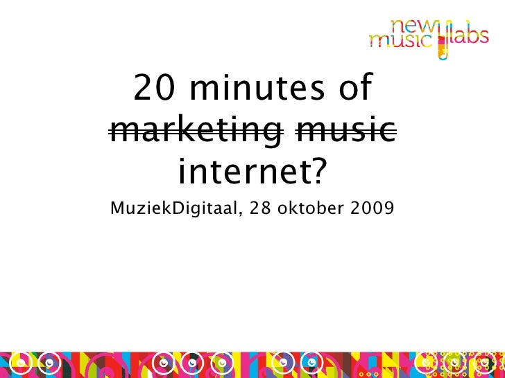 Muziek Digitaal - (Online) Music Marketing