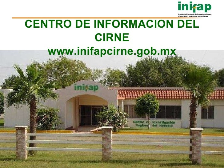 CENTRO DE INFORMACION DEL CIRNE www.inifapcirne.gob.mx