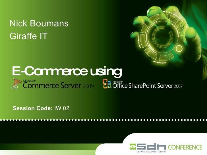 2009 10 Sdc 2009 Iw02 Nick Boumans   E Commerce