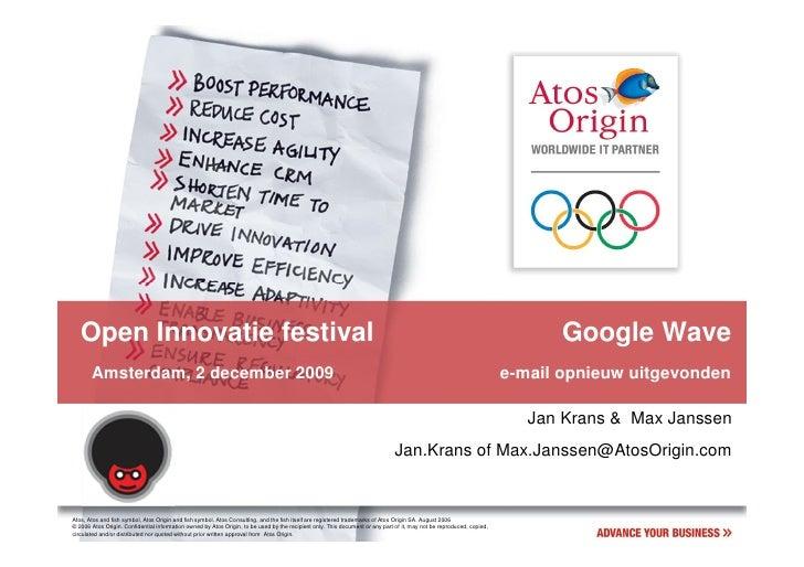 Open Innovatie: Google Wave, e-mail opnieuw uitgevonden