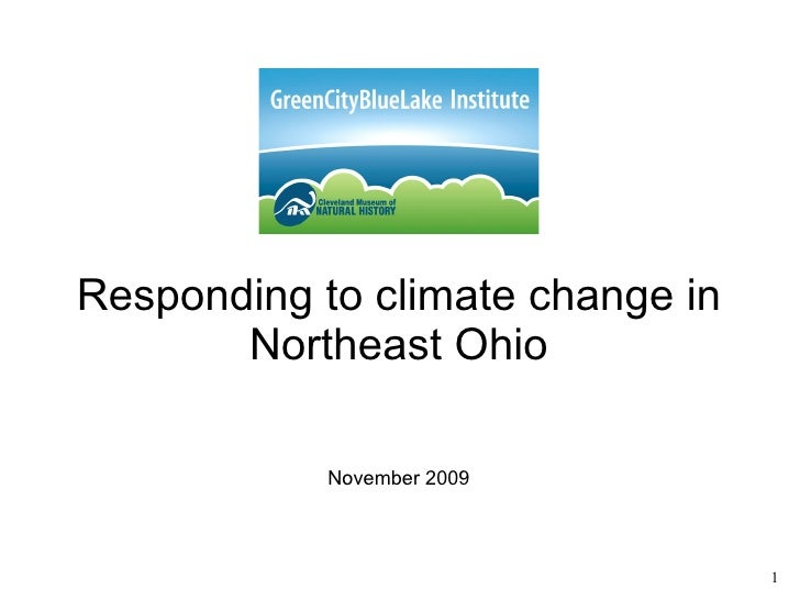 Responding to climate change in Northeast Ohio November 2009
