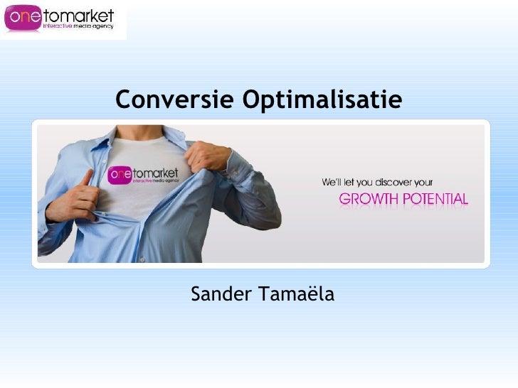 Conversie Optimalisatie Sander Tamaëla