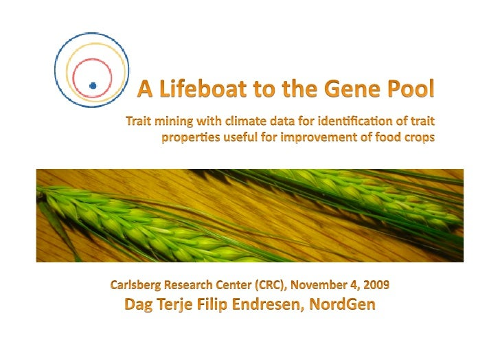 Trait data mining seminar at the Carlsberg research institute (CRI) (4 Nov 2009)