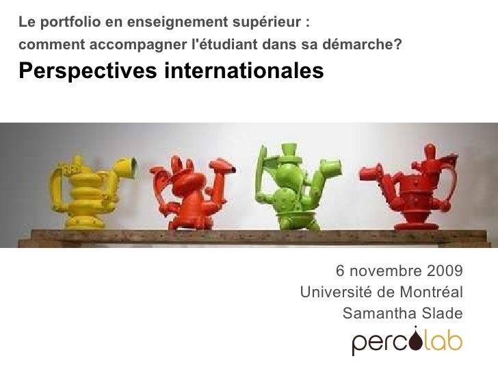 Portfolio numerique - perspectives internationales