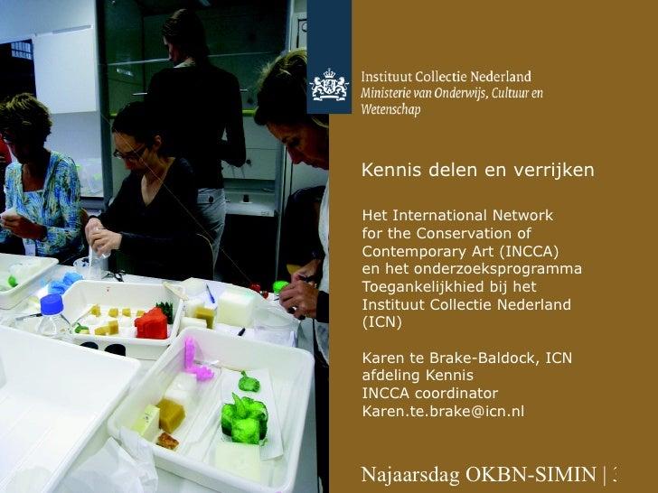 INCCA : kennis delen en verrijken