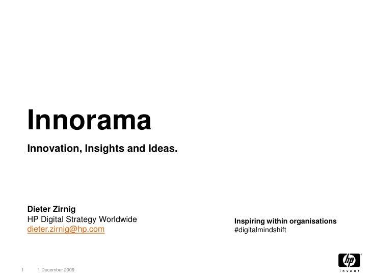 HP Innorama. Inspiring within organisations #digitalmindshift.