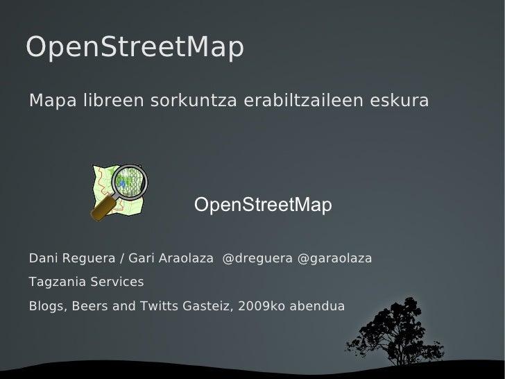OpenStreetMap - Mapa libreen sorkuntza